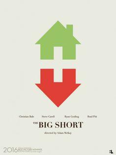 The Big Short (2015) ~ Minimal Movie Poster by Hunter Langston ~ Oscars 2016 Nominees #amusementphile