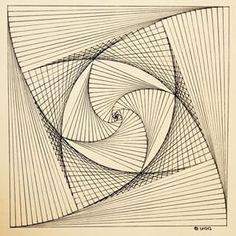 Résultat d'images pour Free Printable String Art Patterns String Art Tutorials, String Art Patterns, Nail String Art, String Crafts, Arte Linear, Math Art, Thread Art, Paper Embroidery, Wire Art