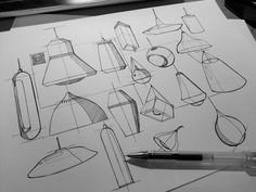youngbumhwang:Lamp design sketch practice.