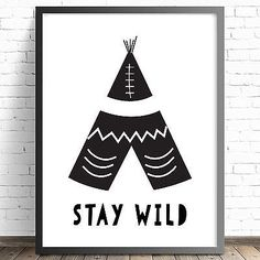 Tribal Nursery Bedroom Wall Art Print-8x10 A4-Baby Children-More Colours