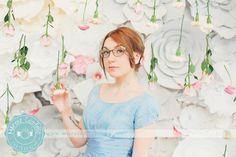 Studio | Portrait | Flowers | Spring | Blue | Marcie Costello Photography www.marciephoto.ca