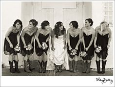 i love the idea of wearing my boots with my wedding dress and fyi to my bridesmaids...you will be wearing them too :)