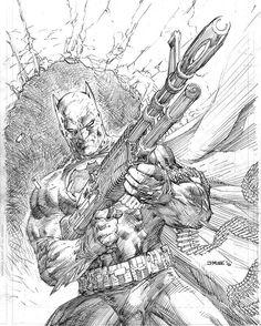 Dark Knight 3 - Variant cover by Jim Lee Jim Lee Batman, I Am Batman, Batman Comic Art, Comic Book Artists, Comic Artist, Comic Books Art, Illustration Batman, Dc Comics, Jim Lee Art