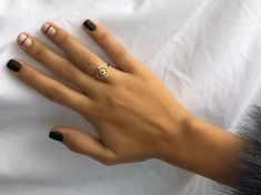 Gold Mandala Ring, Yoga Ring, Meditation Ring, Spiritual Ring, Valentines Gifts For Her - shellac nails Nail Art Designs, Short Nail Designs, Nails Design, Gel Manicure Designs, Neutral Nail Designs, Black Nail Designs, Minimalist Nails, Cute Nails, Pretty Nails