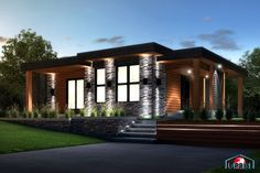 Laprise kit homes Designer, Zen & Contemporary | LAP0506 | Maison Laprise - Prefabricated Homes