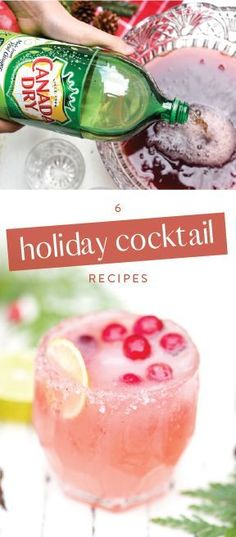 Whether it's a fruit-filled drink or a boozy beverage you're looking for, this collection of 6 Holiday Cocktail Recipes is sure to wow your party guests with flavor & presentation. Each made with bubbly ingredients like 7UP®, Canada Dry® Ginger Ale, & Squirt®, consider these creations your go-to guide for tasty entertaining all Christmas long. And pick up all the ingredients you need at Safeway or Albertsons Companies. Must be 21 or older to consume alcohol. Please drink responsibly.