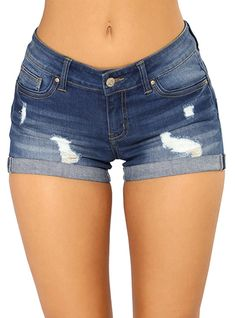 Shop a great selection of Govc Women Casual Summer Mid Waist Stretchy Denim Jean Shorts Junior Short Jeans. Find new offer and Similar products for Govc Women Casual Summer Mid Waist Stretchy Denim Jean Shorts Junior Short Jeans. Short Jeans, Sexy Jeans, Short Pants Girl, Jeans For Short Women, Jeans Women, Women Pants, Distressed Denim Shorts, Denim Jeans, Denim Overalls