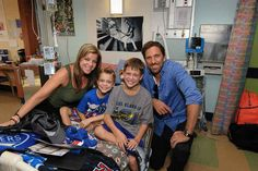 Visits children in the hospital