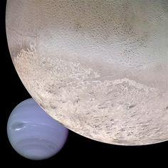 Neptune and its bigger star Triton