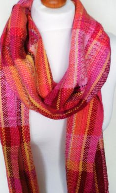 Colourful Handwoven Scarf Woven Scarf Unique by SarahandTheMoon