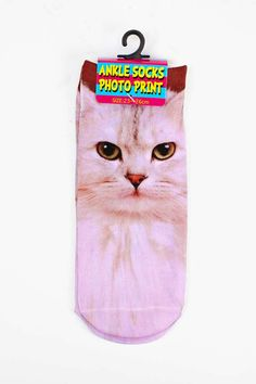 pink kitty ankle socks.