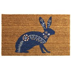 hare door mat from Mozi