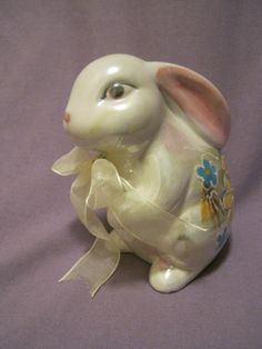 VINTAGE Easter Bunny Figurine / Japanese by NaughtyKittyBags, $6.00