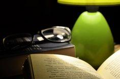 안경, 독서, 책, 램프, 읽기 책, 지식, 공부