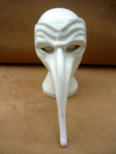Leather Mask Doctor Bird Prop replica Parnassus Zanni Commedia dell'Arte. £45.00, via Etsy.
