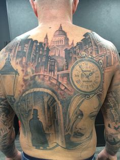 another monster 8 hour session completed yesterday on Lee's jack the ripper back piece by Greg. Stunning work as usual. Please call us on 01253 932549 or message us for any info you require. #uktattoo #tattooworld #getinked ##jack #ripper #back #piece #killer #greg #revivaltattoos