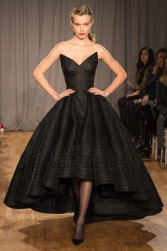 Zac Posen | Fall 2014 Ready-to-Wear Collection | Style.com black evening gown full skirt cinched waist formal