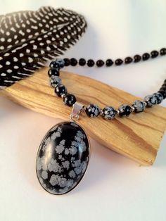 Snowflake Obsidian Mala Prayer Bead Necklace, Meditation Beads, Mala Beads, Prayer Beads by MYTranquilDESIGNS on Etsy https://www.etsy.com/listing/214698446/snowflake-obsidian-mala-prayer-bead