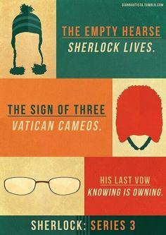 Sherlock | Season 3 Sherlock Series 3, Sherlock Season 3, Sherlock 3, Sherlock Quotes, Sherlock Holmes, The Sign Of Three, His Last Vow, The Empty Hearse, Vatican Cameos
