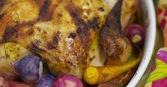 Roast Chicken With Spring Vegetables Recipe | POPSUGAR Food