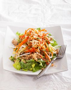 Vietnamese Salad with pickled veggies, pork and shrimp (Bahn Mi Salad) by Eric Isaac, via Flickr