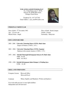 Admission Resume Sample Unique 10 Best Sample Resume Templates Images On Pinterest  Gym Career .