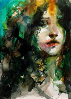 Kai Fine Art is an art website, shows painting and illustration works all over the world. Watercolor Painting Techniques, Gouache Painting, Watercolor Portraits, Watercolor Paintings, Watercolor Face, Expressions Photography, Conceptual Art, Acrylic Art, Figure Painting