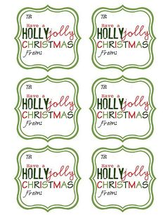 {Free Printable} Christmas Gift Tags  With Christmas just around the corner, it will be time to start wrapping presents before we know it!