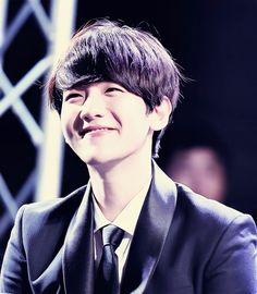 "Exo - Baekhyun ""He looks like a baby bunny smiling <333"""