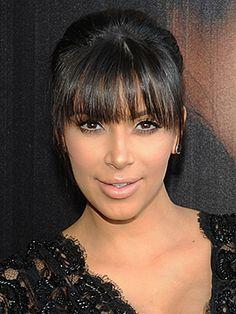 Kim Kardashian Bangs - I am totally loving these!  Do I try it?