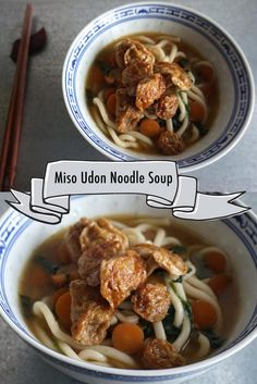 ... miso udon noodle soup with mock abalone # vegan miso udon noodle soup