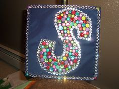 """Decorated graduation hat...""""S"""" for Surgical Technologist!"""
