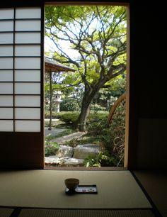 Japanese teahouse - sliding screen doors
