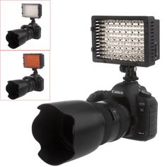 NEEWER® 160 LED CN-160 Dimmable Ultra High Power Panel Digital Camera / Camcorder Video Light, LED Light for Canon, Nikon, Pentax, Panasonic,SONY, Samsung and Olympus Digital SLR Cameras Neewer http://www.amazon.com/dp/B004TJ6JH6/ref=cm_sw_r_pi_dp_668Jtb10GRQQQR67
