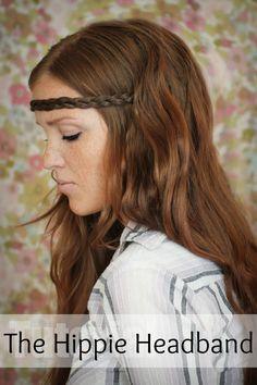 The Freckled Fox - a Hairstyle Blog  Hair Tutorial   The Hippie Headband  Hippie e7bc3546c361