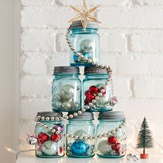 Use whatever you have, repurpose or re-use household items, or grab your craft or DIY tools and make your own holiday decor.