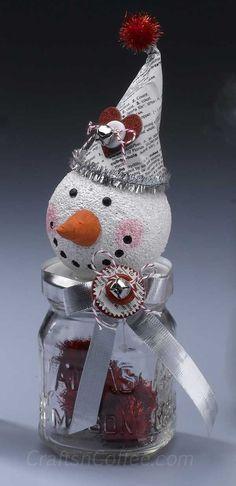 Make a Valentine's Day Snowman for a Valentine's Day gift idea