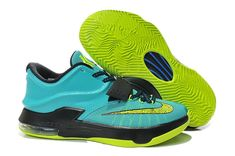 free shipping 85891 f49c8 Womens and Kids KD 7 Uprising Hyper Jade Blue Volt. Buracke DANXI · Boy Basketball  Sneakers