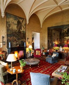 Castle Interior Design Property lismore castle, ireland  london interior designer melissa wyndham