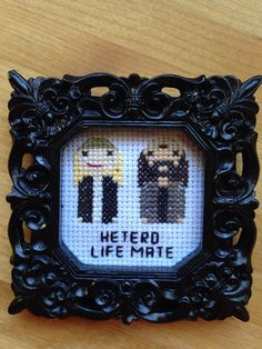 Jay and Silent Bob Hetero Life Mate Cross by ParchmentPetalDesign