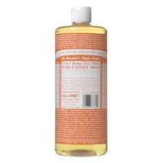 Dr. Bronner's Pure Castile Soap, 18-in-1 Hemp Tea Tree - the best product to clean your makeup brushes with.