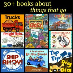 transportation preschool theme, picture books