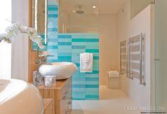 Spa hangulat, a tenger színei - színes fürdőszoba tippek - 9 ízléses színpaletta ötlet