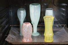 """All the thrift stores I go to {and I am sure all the thrift stores all over the country} are filled with inexpensive glass bottles, jars, and vases. The sheer abundance of all this glassware makes it cheap – and a little boring. In order to """"dress up"""" some basic[Read more]"""