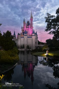 The spotlight is on the most wonderful couple in all of the (Magic) Kingdom #Disney #wedding #bridal #portrait #MagicKingdom