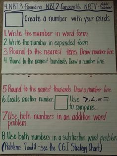 Rounding Whole Numbers  Do 1-4 whole group- use a deck of cards- collect what they write for a grade if needed