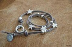 Stars leather string