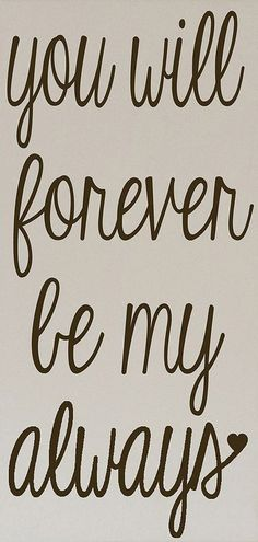 Cream & Brown 'Forever Be My Always' Wall Art