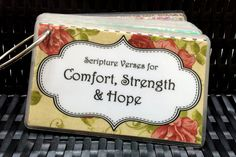 Scripture Verses for Difficult Times by CaliLilyBoutique on Etsy