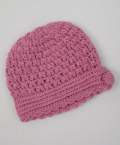 Look what I found on #zulily! Rose Pink Scallop Crochet Beanie #zulilyfinds